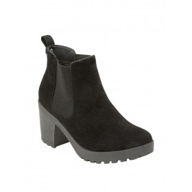 Truffle Collection Women black suede ankle boot Toe Type Round 10722528 GHQPPCG