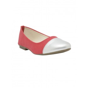 NELL Women red faux leather slip on ballerina Toe Type Round 14722472 AECKCGH