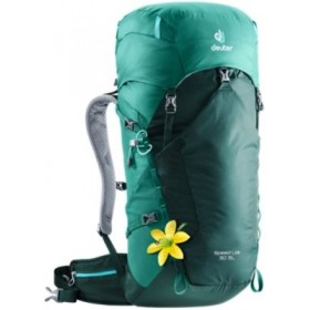 Deuter Women Womens Speed Lite 30 SL Hiking Pack Lite Air - The lightest hiking pack backsystem in Deuter's product line provides stable and pleasant load distribution with a flexible tensioned Delrin U-frame and an extremely light ventilated padded back panel. CT39-358324 ALYFBOJ